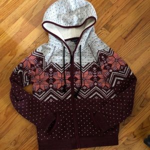 American Eagle Outfitters snowflake hoodie